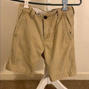 Khaki Abercrombie kids shorts